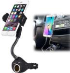 "STAR Suport Auto 360 Cu Incarcator Universal 1.5A 3.5""-5.3"" Negru (HC-45)"