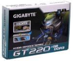 GIGABYTE GeForce GT 220 OC 1GB GDDR3 128bit PCI-E (GV-N220OC-1GI) Videokártya