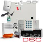 DSC Sistem Alarma Antiefractie Dsc Power Pc 585 + Comunicator Gsm Seka Sms (kit 585 Ext + Comunicator Gsm/gprs)