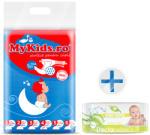 MyKids Scutece Copii MyKids New Maxi 4 (8-15kg) 54 buc Cadou Servetele Umede Doctor Wipes Aloe fara capac