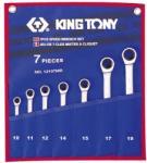 KING TONY Racsnis csillag-villáskulcs készlet 7db 10-19mm (12107MR)
