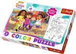 Trefl Color Puzzle - Dóra és barátai színezhető kétoldalas puzzle (36512)