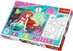 Trefl Color Puzzle - Disney hercegnők: Ariel színezhető kétoldalas puzzle (36513)