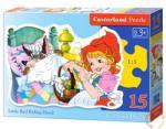 Castorland Piroska és a farkas 15 db-os sziluett puzzle (B-015030)