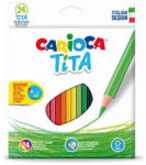 CARIOCA Creioane colorate plastic 24 culori/set CARIOCA Tita
