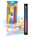 CARIOCA Creioane colorate bicolore, 6 buc/set CARIOCA Jumbo
