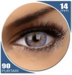 Phantasee Mellow Nano Blue - lentile de contact colorate albastre trimestriale - 90 purtari (2 lentile/cutie)