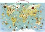 Vilac Mágneses világtérkép puzzle 76x50cm angol (V2728)
