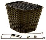 Kosár sűrűszövésű első műanyag, fix fekete