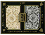 KEM Cards Black/Gold wide - 100% plasztik kártya (dupla pakli)