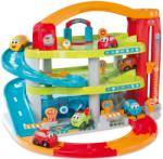 Smoby Kétemeletes garázs gyerekeknek Vroom Planet Grand Smoby 2 kisautóval és tároló dobozzal 18 hónapos kortól