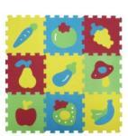 Ludi puzzle, szivacs szőnyeg, gyümölcsök