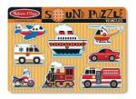 Melissa & Doug MD10725 Hangot adó puzzle 8 db - járművek Melissa & Doug
