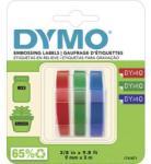 DYMO Feliratozó szalag, 3 részes készlet, kék, fekete, piros, feliratozási szín: fehér, 9 mm, 3 m - conrad