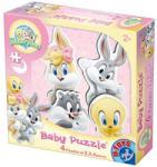D-Toys Baby Looney Tunes Baba puzzle, Pasztell rózsaszín, 2, 3, 4 darab (5947502871736)