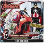 Avangers - Bosszúállók Titán Hősök Amerika kapitány figura, járművel (HAS-B1492)