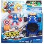 Marvel Super Hero Mashers Amerika kapitány figura járművel - Hasbro