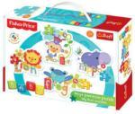 Fisher-Price : Szivárvány erdő baby puzzle táskában - Trefl