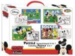 LICENCE Puzzle Színezhető Kétoldalas 45db-os 30x40 Cm Mickey