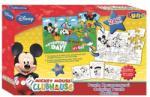 LICENCE Puzzle Színezhető Kétoldalas 24db-os 41x28 Cm Szinezővel Mickey