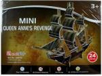 Shantou Anna királynő bosszúja kalózhajó 3D mini puzzle - 24 db-os (BON-3D-S3031)