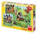 Dino Kisvakond és barátai puzzle 3x55 db-os