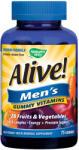 Nature`s Way, САЩ Алайв желирани мултивитамини за мъже Nature's Way 100 мг х 75 таблетки (15895)