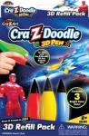 Cra-z-doodle 3D Határtalan fantázia, különleges járművek és szuperhősök utántöltő (CMH-14597)