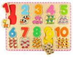 Bigjigs Toys Puzzle numere si culori bigjigs (2673) Puzzle
