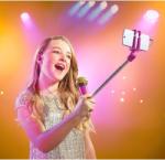 SELFIE MIC mikrofon szelfie bottal rózsaszín (SELFIEM00577)