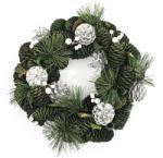 4-Home Karácsonyi koszorú 30 cm ezüst, HTH
