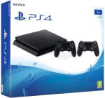Sony PlayStation 4 Slim Jet Black 1TB (PS4 Slim 1TB) + DualShock 4 Controller Console