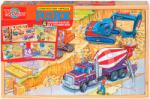 T.S. Shure Építkezés fa puzzle dobozban 4x24 db-os (0990)