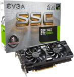 EVGA GeForce GTX 1050 Ti SSC GAMING ACX 3.0 4GB GDDR5 128bit PCIe (04G-P4-6255-KR) Videokártya