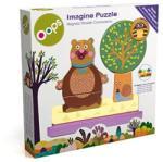 ToyCentre Mágneses fa puzzle, 8 részes, macis