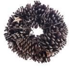 4-Home Koszorú tobozokkal és nyírfából készült csillagokk, natúr, átmérője 25 cm