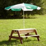AXI homokozó- / vizi játék- piknik asztal napernyővel A031.004. 00
