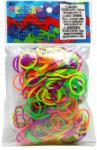 Rainbow Loom Eredeti gumikarikák 300 darab neon mix