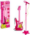 Bontempi Elektromos gitár állványos mikrofonnal - rózsaszín (GM 7571)