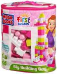 Mega Bloks Lányos építőkocka táskában - 60db (DCH54)