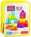 Mega Bloks 1-2-3 számolj! építőkockák - 20db