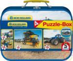 Schmidt Spiele New Holland Puzzle-Box 2x60+2x100 db-os puzzle fém bőröndben (56507)