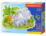 Castorland Maxi puzzle - Játékos elefántok 12 db-os (B-120116)