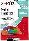 Xerox Fólia, írásvetítőhöz, A4, színes nyomtatóba, víztiszta, XEROX (50db/csom) (FOX98205)