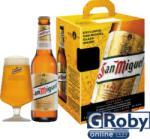 San Miguel Especial világos sör 5x0, 33 l 4, 5% üveges+ ajándék pohár