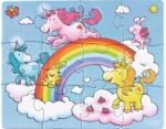 HABA 3 Puzzle-uri De Vis Cu Sclipici - Unicorni Pe Nori Puzzle