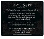 ABYstyle Death Note - Rules (ABYACC087) Mouse pad