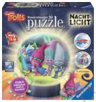 Ravensburger 3D világító gömb puzzle - Trollok 72 db-os (12195)
