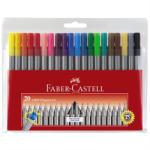 Faber-Castell Liner 0.4 mm FABER-CASTELL Grip, 20 culori/set