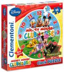 Clementoni Mickey egér fluoreszkáló óra puzzle 96 db-os (MH-23018)